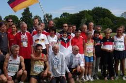 die deutsche Mannschaft vor der Cross-Staffel in Aarhus (DEN)