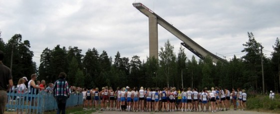 Start Crosslauf W35-W50 bei der Senioren-WM in Lahti (FIN)
