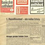 Zeitungsartikel vom 1. Porzellinerlauf 1966