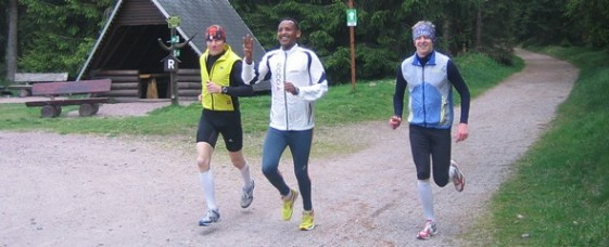 Rashe Buggaa beim Training auf dem Rennsteig