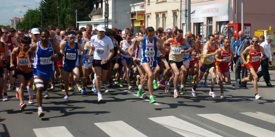 An den Straßenlaufwettbewerben, hier der Start 10 km, nahmen keine Thüringer Senioren teil
