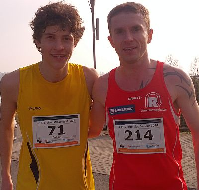 Sieger Fabian Gering (l.) und Christian Seiler (Foto: Laufservice Jena)