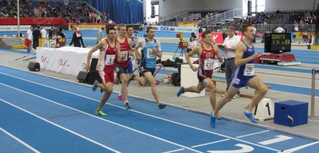 Vorlauf 800m mit Sebastian Keiner (309)