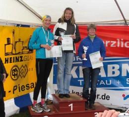 Die Siegerinnen der 25-km-Strecke