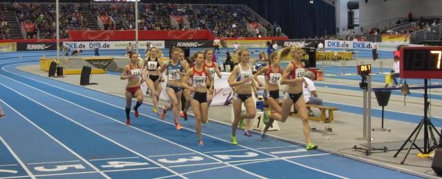 1.500m Finale mit Astrid Hartenstein (310)