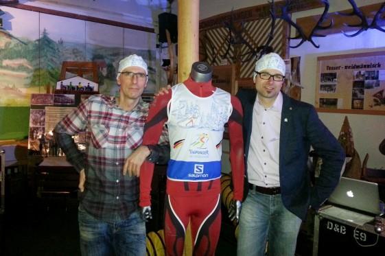 Andreas Luck und Marcus Clauder bei der Präsentation zum Thüringer Skimarathon