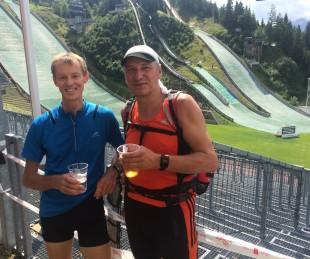 Treffen mit dem Thüringen Ultra-Sieger von 2014 Bernhard Munz.