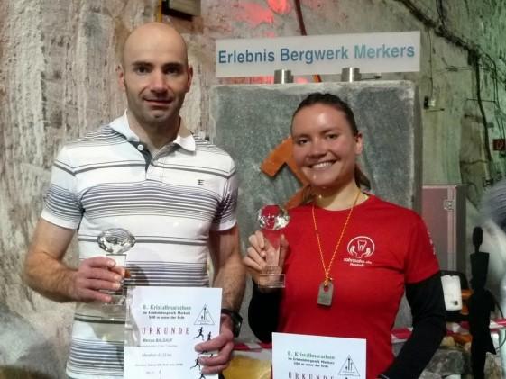 Marcus Baldauf und Chistina Pahn - die Sieger des Marathons
