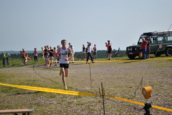 Christian Seiler auf dem Zielanstieg