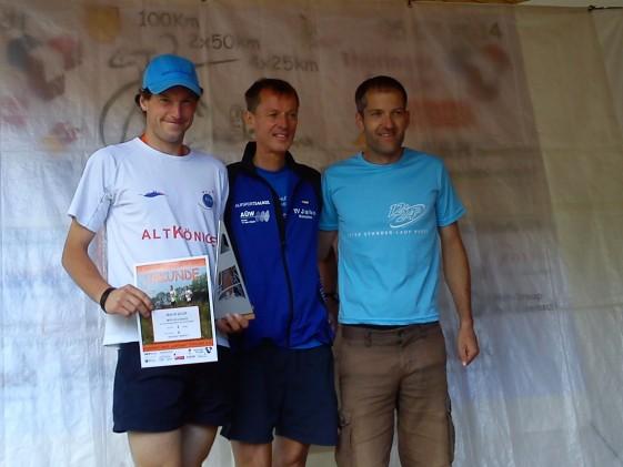 Die Sieger der 100 km bei den Männern