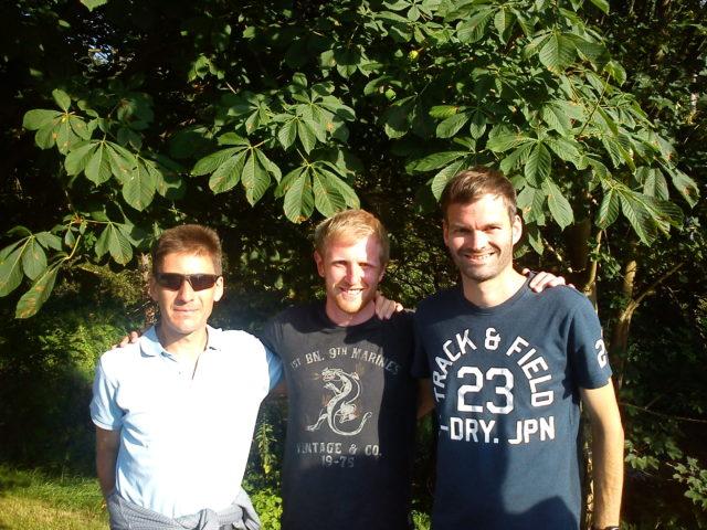 Die besten Männer: Matthew Lynas, Frank Wagner, Martin Lilitzke (v.l.n.r)