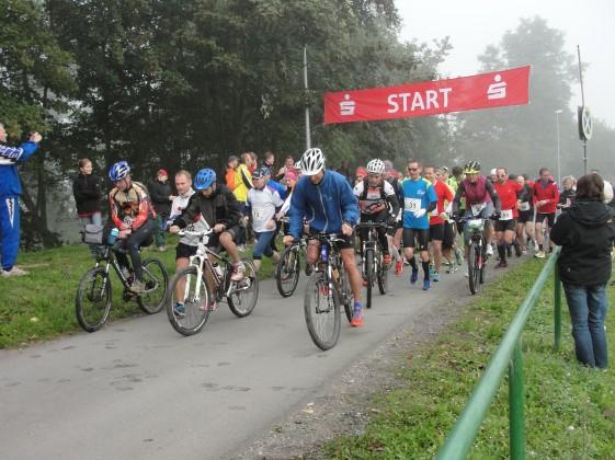 Start des Marathons in Uhlstädt