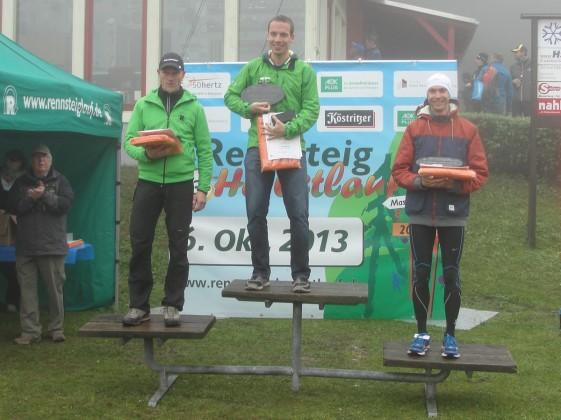Siegerehrung der Männer mit Stefan Neidhardt, André Fischer und Max Röhnert (v.l.n.r.)