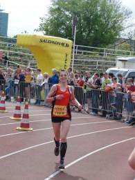 Kristin Hempel beim Zieleinlauf