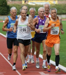M70 - Finale 1500 Meter Hartmut Erdmann ganz links