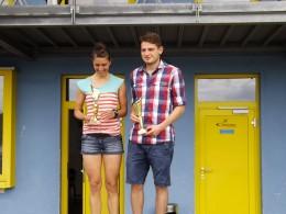 15 Kilometer- Sieger: Yvonne Ittershagen und Tobias Kellner