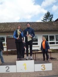 Bärbel Kramer und Sebastian Heinze, die Sieger im Hauptlauf