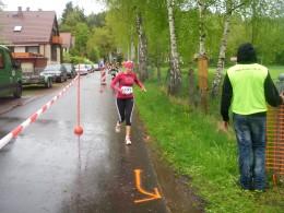Silvia Färber-Pfannschmidt aus Erlau, die Dritte des Hauptlaufes