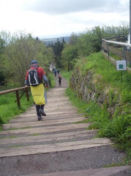 Vorsicht ist geboten beim steilen Abstieg