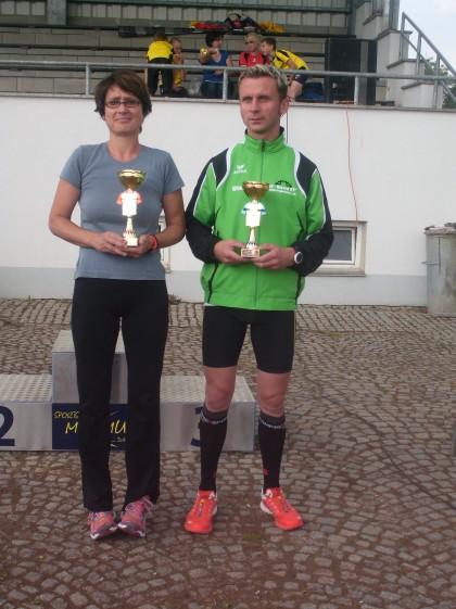 Diana Hopf und Olaf Dömming, die Gewinner des Hauptlaufes