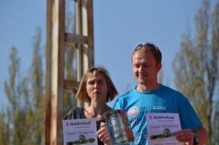 Claudia Schulz mit Rosenbaum; die beiden Gesamtsieger