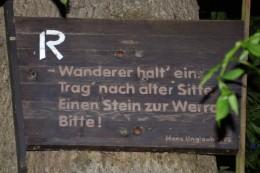 Rennsteigtafel in Blankenstein