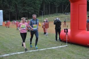 Doreen Fischer lief mit ihrem Ehemann Sven Fischer über die Ziellinie.