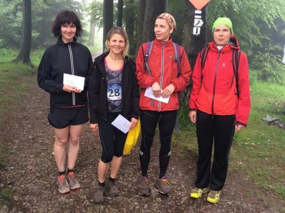 Gesamtwertung der Frauen v.l.n.r.: Anke Härtl, Silvia Bärwolf, Carola Rudorfer, Bärbel Kramer