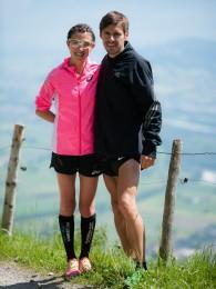 Damen- und Herrensieger Sabine Reiner und Stefan Hubert, Foto: Günther Büchel