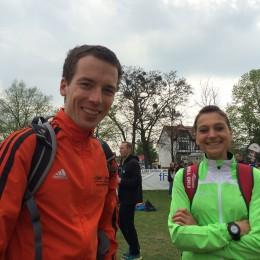 Halbmarathonsieger André Fischer und Kristin Hempel