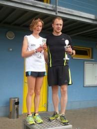 Hofmann und Rosenbaum, die Sieger der 7 Kilometer- Strecke