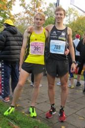 Sensationell Bronze (Ch. König, li) und Silber (M. Bräutigam) für Thüringen bei der Marathon-DM