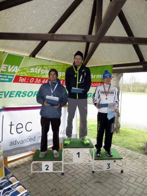 Die Topplatzierten in der Gesamt- und Meisterschaftswertung (v.l.n.r: Steffen Tostlebe, Rico Scharz, Sebastian Seyfarth)