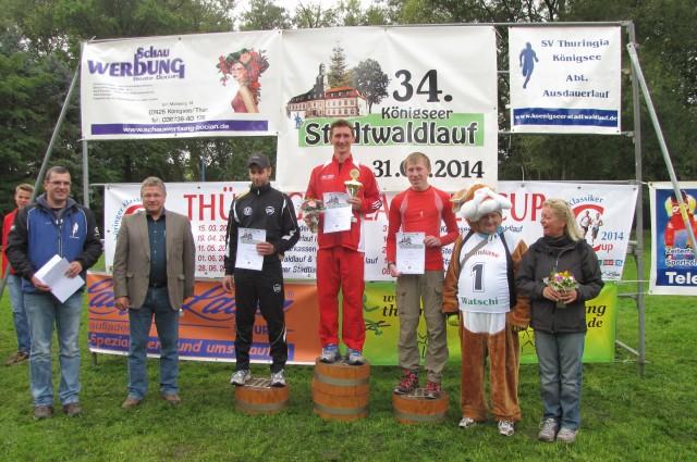 10 km Männer: 1. Platz - David Münch, 2. Platz - David Leese, 3. Platz - Christoph Kornhas