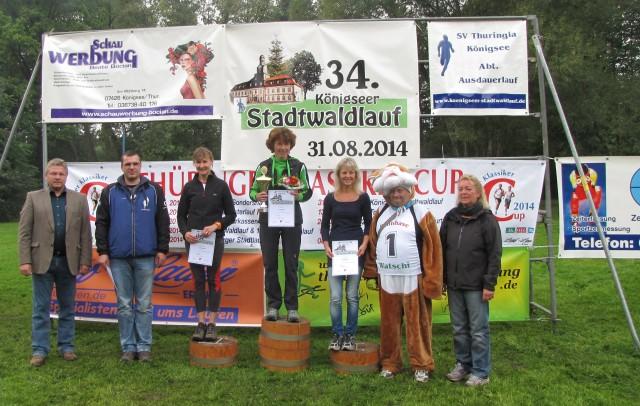 10 km Frauen: 1. Platz - Ina Oschmann, 2. Platz - Silvia Bärwolf, 3. Platz - Heike Wagner
