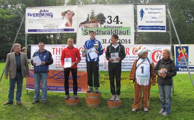 20 km Männer: 1. Platz - Patrick Ratzka, 2. Platz - Sebastian Bergmann, 3. Platz - Daniel Hirt
