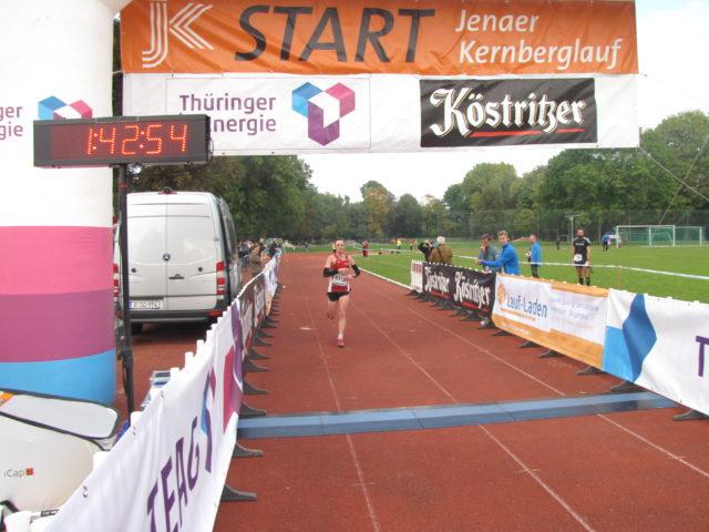 Marcel Krieghoff beim Zieleinlauf