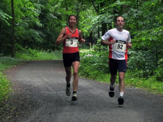 Siegerin über die 10 Kilometer Juliane Heinze (Startnummer 3)