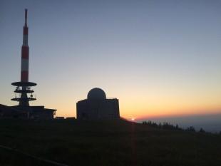 Am Abend des Tages: Sonnenuntergang auf dem Brocken.