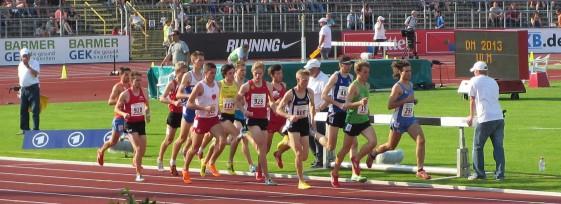 3.000m Hindernis-Finale mit Rico Schwarz (929) und Marcus Schöfisch (928) vom ASV Erfurt