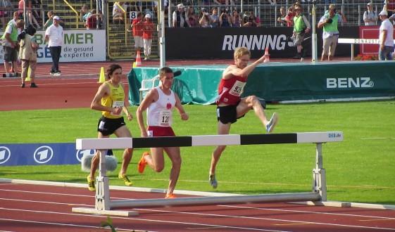 Rico Schwarz (929) in aussichtsreicher Position im Kampf um Platz Zwei