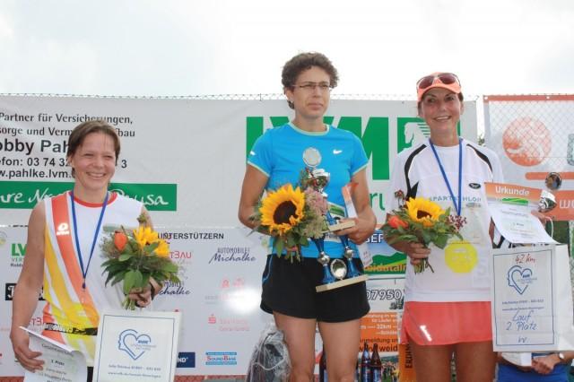 Siegerehrung Marathon Frauen