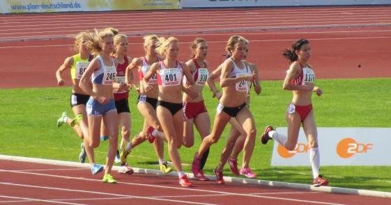 1.500m-Finale mit Annett Horna und Astrid Hartenstein (938)