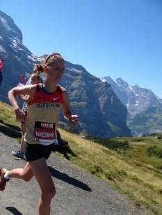 Stefanie Rexhäuser beim Jungfrau Marathon