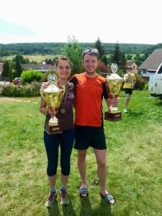 Die Seriensieger Kristin Hempel und Marcel Krieghoff (beide USV Erfurt) bringen es jetzt zusammen auf 14 Kirschlaufsiege.