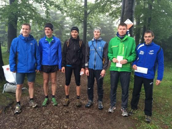 Gesamtwertung der Männer v.r.n.l.: Thomas Kühlmann, Christoph Weigel, Chris Oemus, Thomas Just, Stefan Bayer und Erik Dittmann