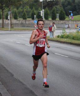 Der Erfurter Marcel Krieghoff lag bei Kilometer 25 sehr gut im Rennen.