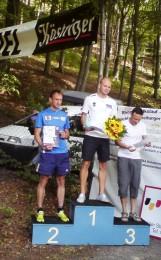 Siegerehrung des 16km Laufes (v.l.n.r. Jens Winkler, Phillip Willaschek und Thomas Meinecke)