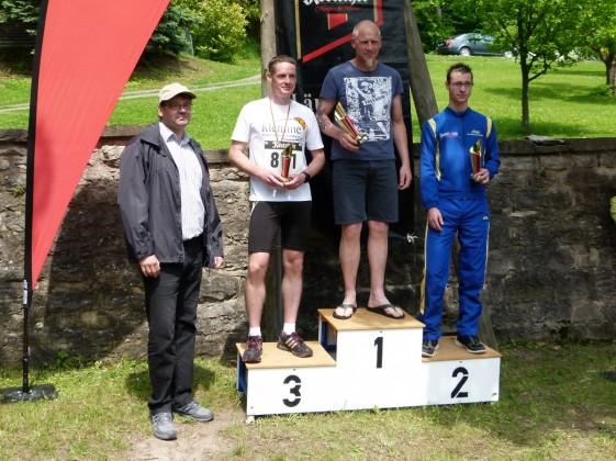 Siegerehrung 20 Kilometer der Männer