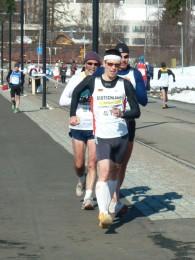 Steffen Meyer, hier beim Straßengehen, gewinnt 5 Medaillen bei der Senioren-WM in Finnland